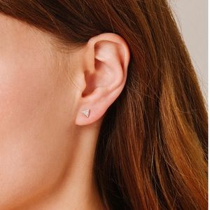 A.Reyter Stud earring. Yellow 14K gold w/ dimonds